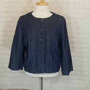"Body, ""swing"" style denim jacket"